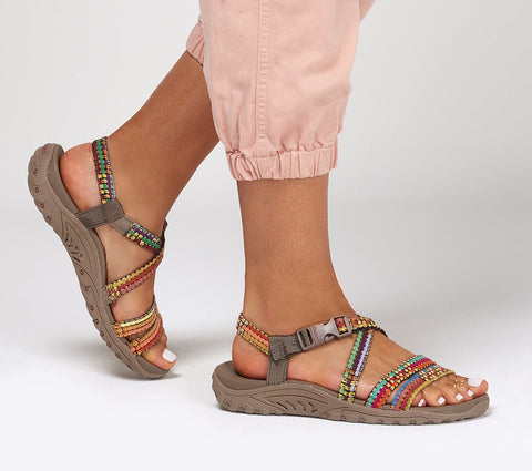 Skechers Reggae Sew Me sandal is perfect for a comfy day in the rugged outdoors or kicking it poolside. Shop Bennetts Clothing for a large selection of womens sandals with great prices and same day shipping