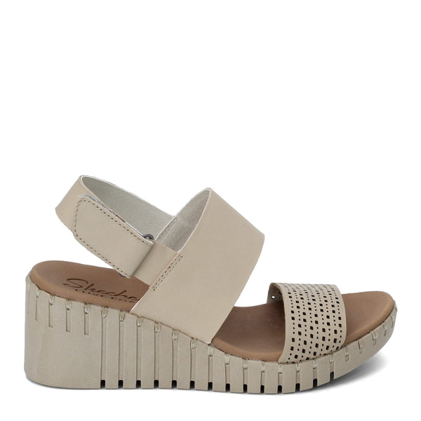 Skechers Pier Ave. Wedge Sandal-Taupe