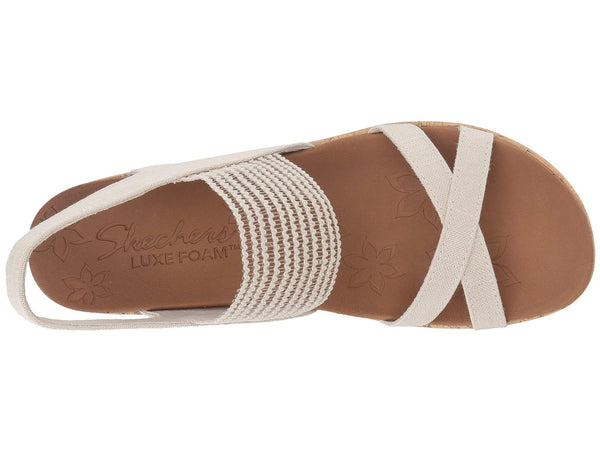 Skechers Beverlee High Tea Wedge Sandal-Natural