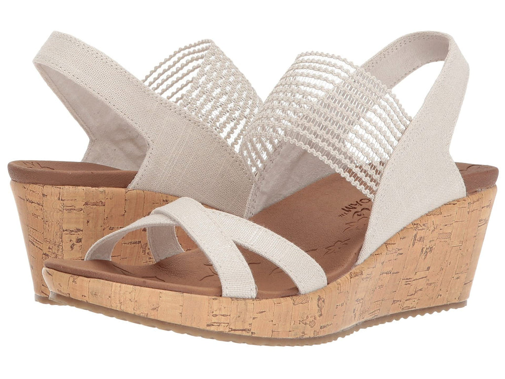 Skechers Beverlee High Tea platform wedge sandal sets your style apart from the rest. Shop Bennetts Clothing for a large selection of womens sandals with great prices and same day shipping