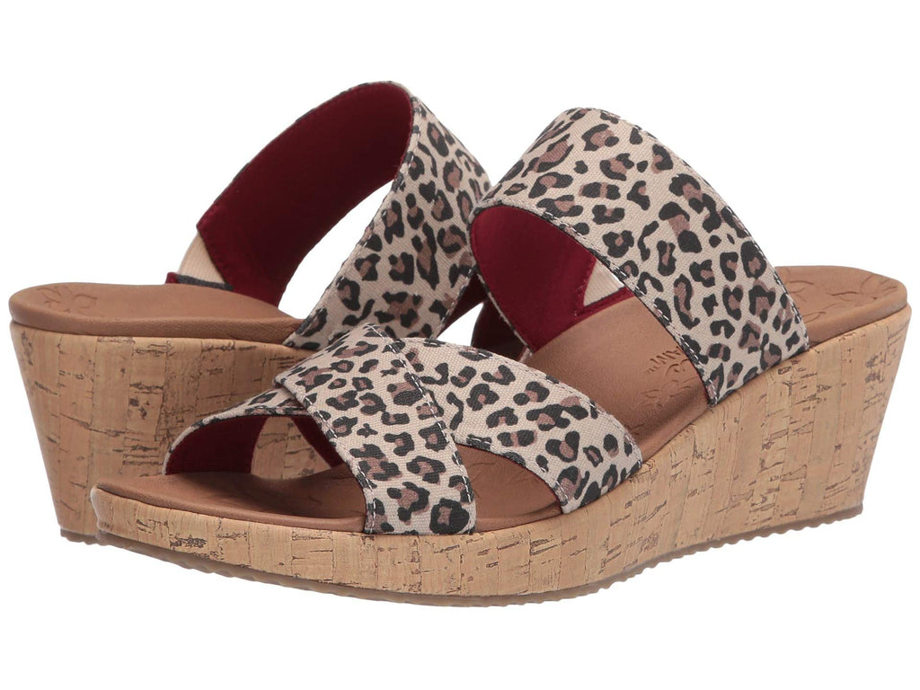 Skechers Beverlee Purrrfect wedge sandal sets your style apart from the rest. Shop Bennetts Clothing for a large selection of womens sandals with great prices and same day shipping