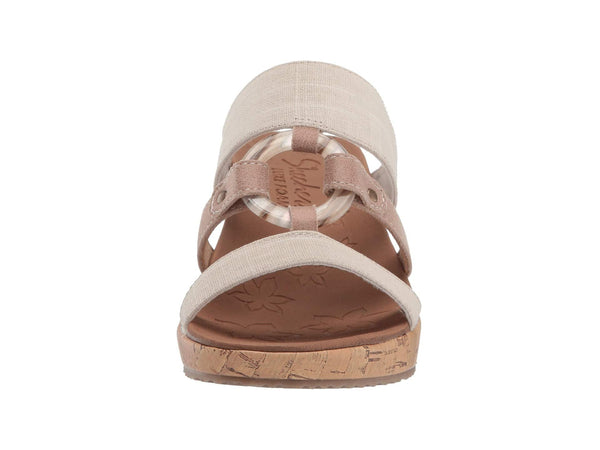 Skechers Beverlee Sail Away Wedge Sandal-Natural