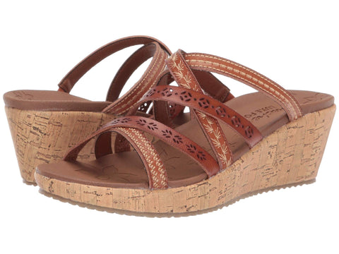 Skechers Beverlee Tiger Posse wedge sandal sets your style apart from the rest. Shop Bennetts Clothing for a large selection of womens sandals with great prices and same day shipping
