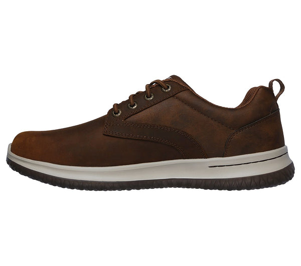 Skechers Delson Antigo Waterproof Oxford-Dark Brown