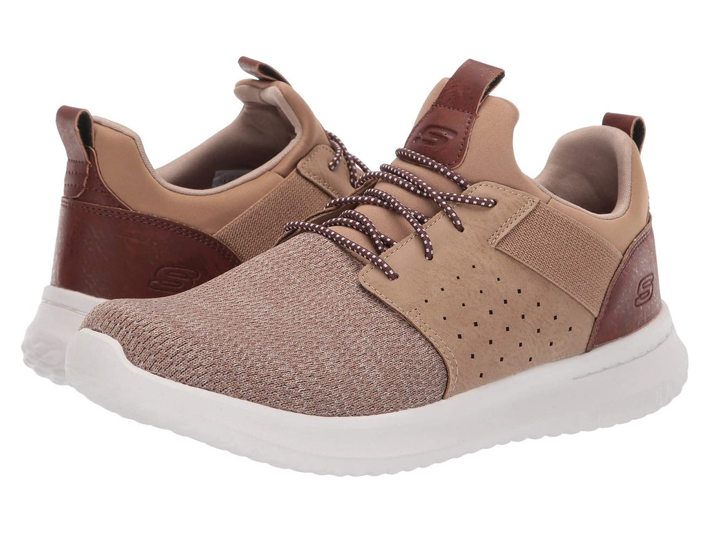 Skechers Delson Camben sneaker for men has sporty styling and comfy fit that you will love. Bennetts Clothing for a large selection of mens shoes with great prices and same day shipping