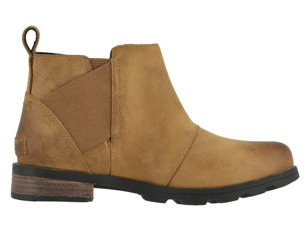 Sorel Women's Emelie Chelsea Pull-on Bootie-Camel Brown