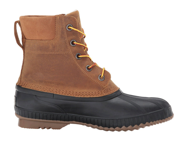 SOREL Mens Cheyanne II Lace-up Waterproof Snow Boot-Chipmunk/Black