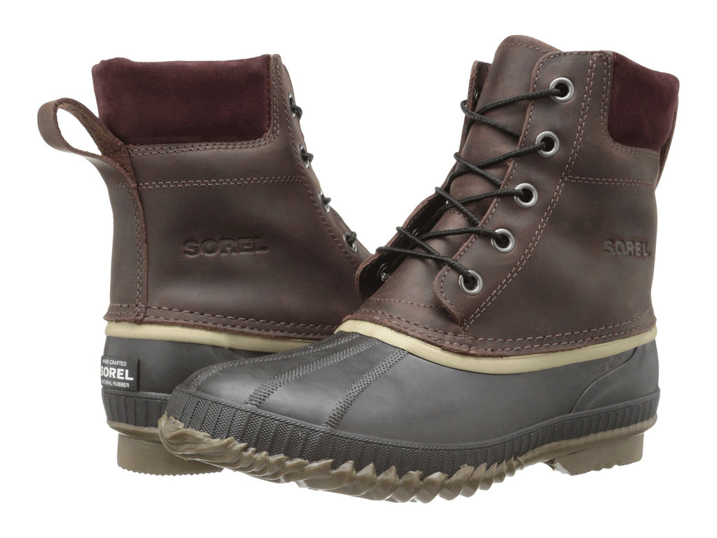 SOREL Mens Cheyanne Lace Snow Boot-Madder Brown-Stout - Bennett's Clothing - 1