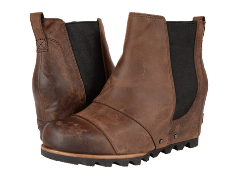Sorel Womens Lea Wedge Boot-Umber/Black - Bennett's Clothing - 1