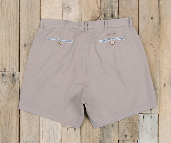 "Southern Marsh 6"" Men's Charleston Seawash Short-Burnt Taupe"