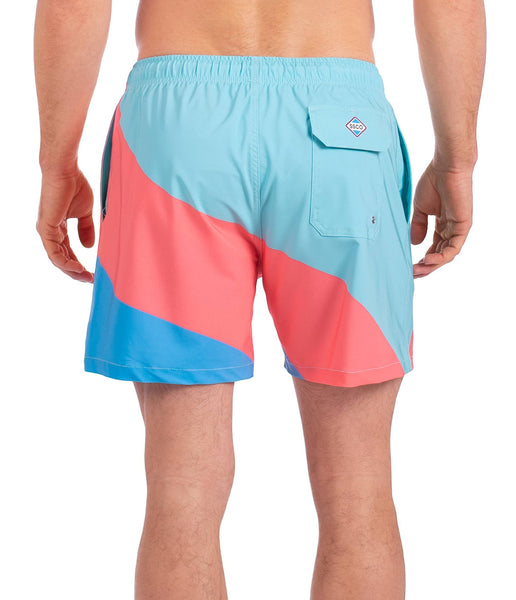 Southern Shirt Co Mens Printed Swim Trunks-Danger Zone