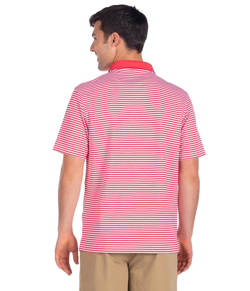 Southern Shirt Company Folly Beach Pique Polo-Paradise Red