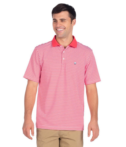Southern Shirt Company Folly Beach Pique Polo's looks cool on the links or cruising the streets. Stylish, functional men's polo's and mens clothing can be found at Bennetts where the customer is #1.