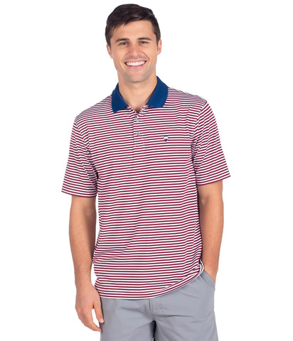Southern Shirt Company Peabody Stripe Polo will keep you on top of your game. Stylish, functional men's polo's and mens clothing can be found at Bennetts where the customer is #1.