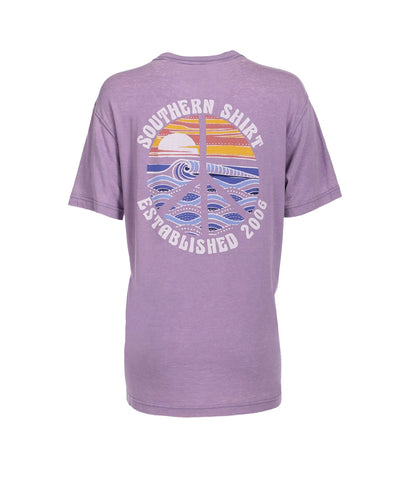 Southern Shirt Company Peace of Paradise T-shirt is hip and comfortable. Shop Bennetts Clothing for the best styles of clothing from the brands you want.