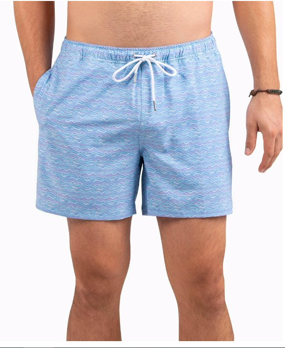 Southern Shirt Company Lava Lamp Swim trunks stand out in the crowd. Stylish, functional shorts and mens clothing can be found at Bennetts where the customer is #1.