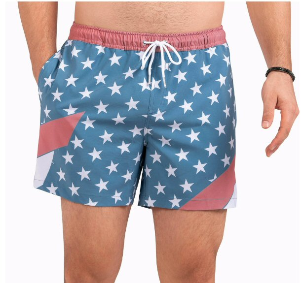 Southern Shirt Company Still Da Champ USA Swim trunks stand out in the crowd. Stylish, functional shorts and mens clothing can be found at Bennetts where the customer and USA are #1.