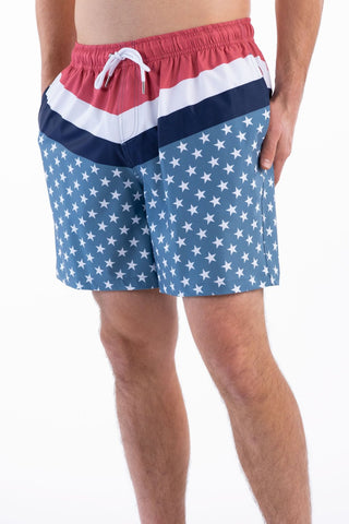 Southern Shirt Company Swim trunks make a statement while stand out in the crowd. Stylish, functional shorts and mens clothing can be found at Bennetts where the customer is #1.