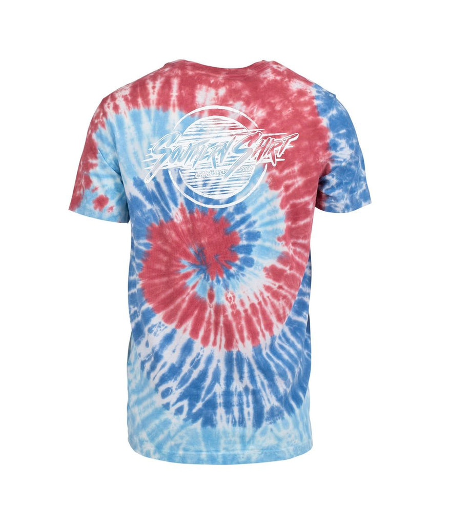 Southern Shirt Company Bae Watch Tie Dye t-shirt will stand out in the crowd. Stylish mens clothing can be found at Bennetts where the customer is #1.