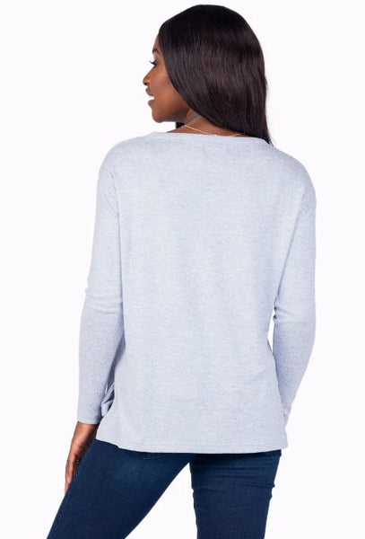 Southern Shirt Sincerely Soft Fleece Pullover-Dusty Blue