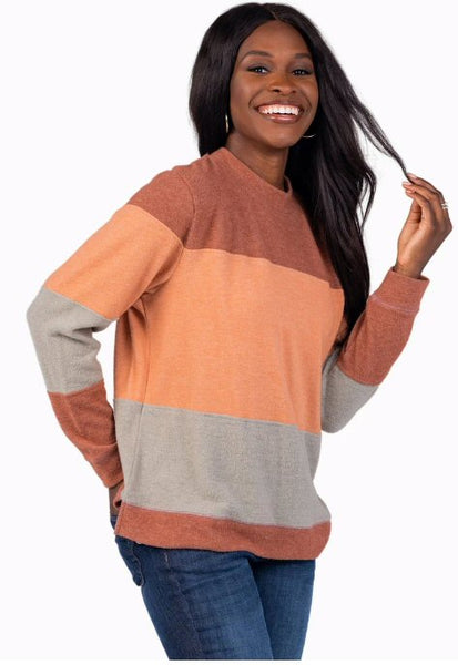 Southern Shirt From The Block Pullover Sweater-Mahogany
