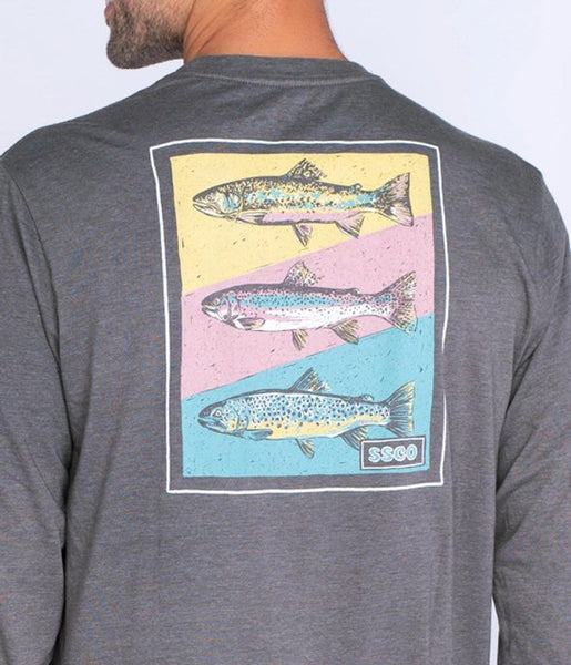 Southern Shirt Tricolor Trout T-shirt has a awesome feel with a laid back look. Shop Bennetts Clothing for the best styles of clothing from the brands you want.