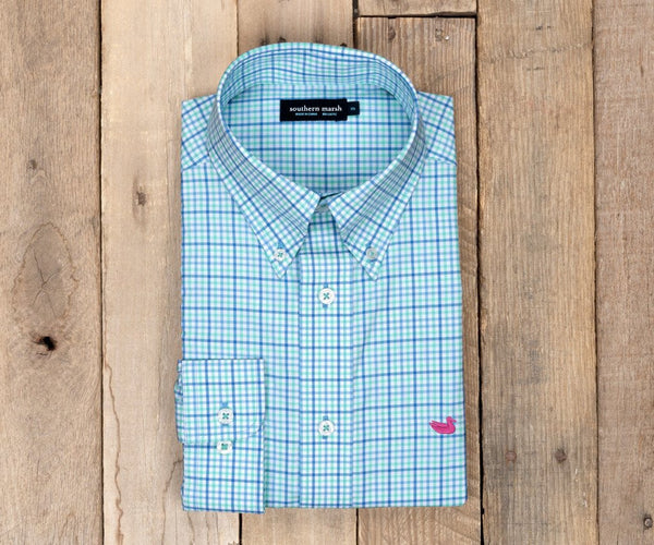 Southern Marsh Dunlavy Check Dress Shirt-Lilac & Mint