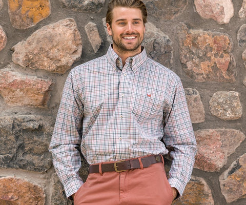 Southern Marsh Calhoun Check sport shirts in cool new colors -Shop Bennetts Clothing where you find the best brands and same day shipping.