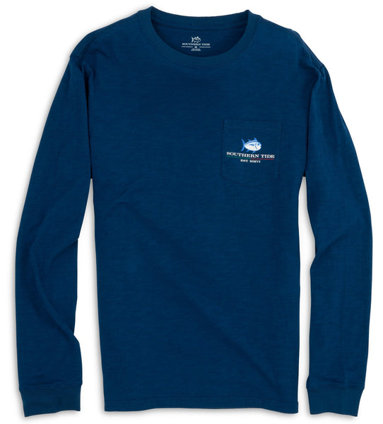 Southern Tide Channel Marker T-Shirt-Yacht Blue - Bennett's Clothing - 2