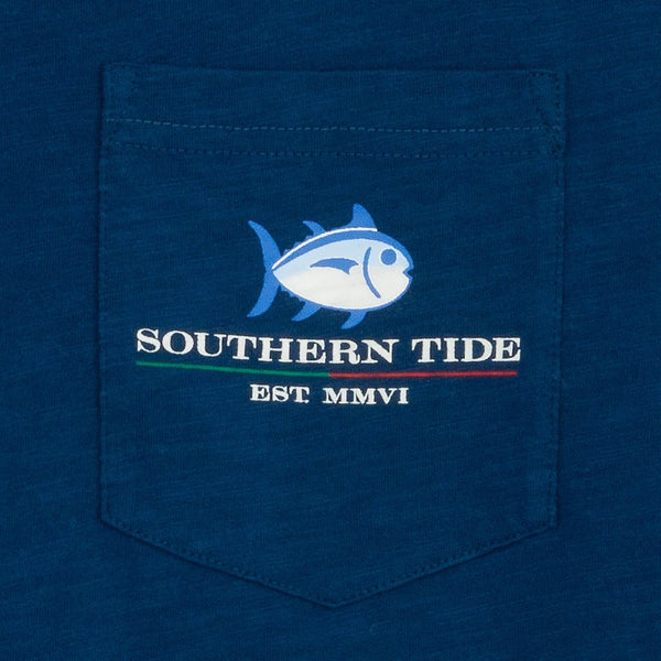 Southern Tide Channel Marker T-Shirt-Yacht Blue - Bennett's Clothing - 3