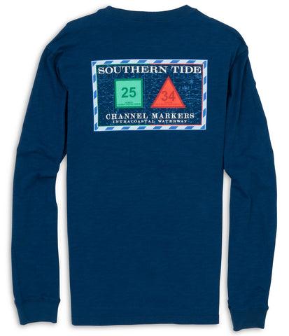 Southern Tide Channel Marker T-Shirt-Yacht Blue - Bennett's Clothing - 1