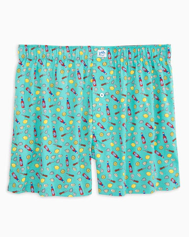 Southern Tide Shuck Off Boxer Shorts-Mint