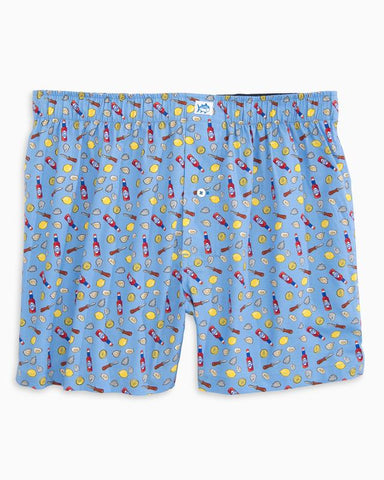 Southern Tide Shuck Off Boxer Shorts-Vista Blue