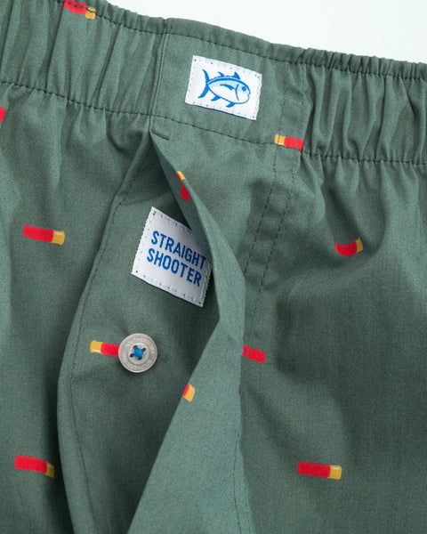 Southern Tide Straight Shooter Boxer Short-Duck Green