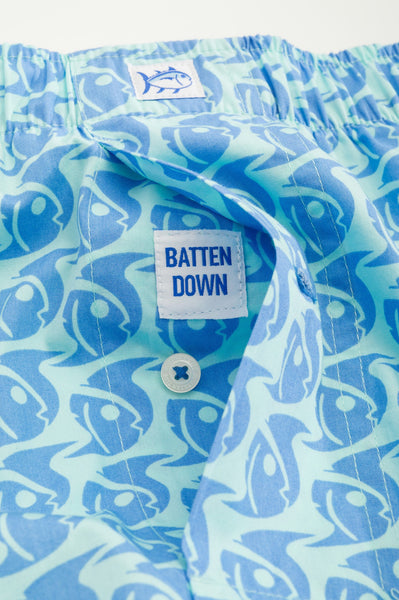 Southern Tide Batten Down Boxer Short-Aqua - Bennett's Clothing - 2