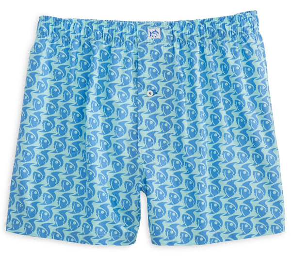 Southern Tide Batten Down Boxer Short-Aqua - Bennett's Clothing - 1