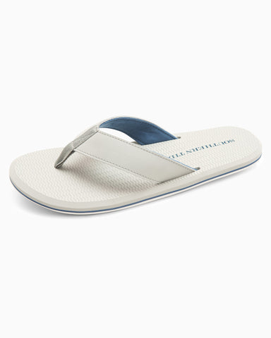 Southern Tide Leather Flipjacks-Seagull Grey