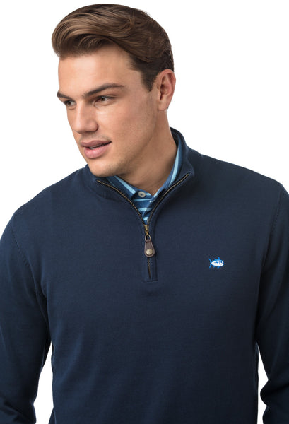 Southern Tide Alpenglow 1/4 Zip Pullover-True Navy