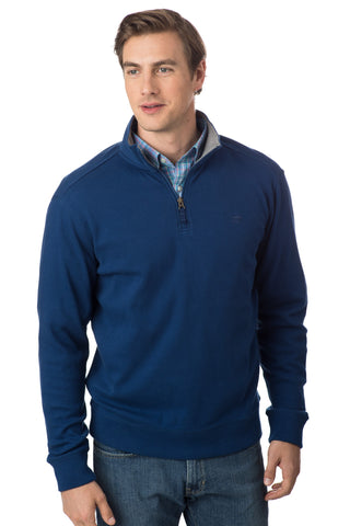 Southern Tide Skipjack 1/4 Zip Pullover-Yacht Blue