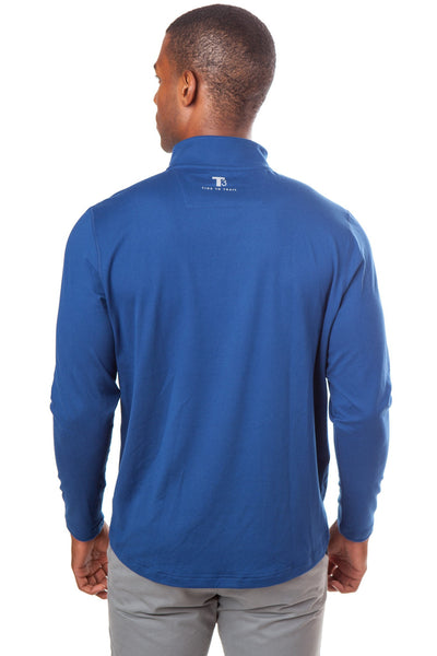 Southern Tide Pop Color Performance 1/4 Zip Pullover-Yacht Blue - Bennett's Clothing - 3