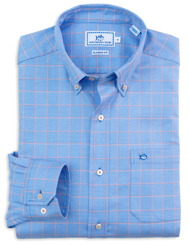 Southern Tide Coral Springs Plaid Sport Shirt-Cool Water - Bennett's Clothing - 1