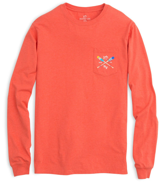 Southern Tide LS Canoe Dig It T-Shirt-Red - Bennett's Clothing - 2