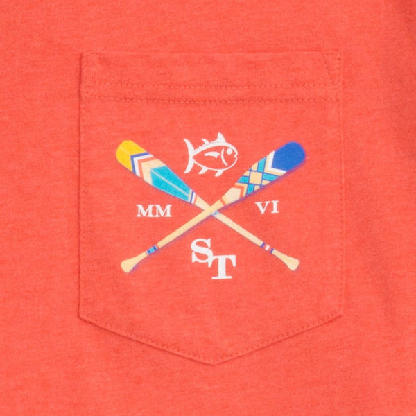 Southern Tide LS Canoe Dig It T-Shirt-Red