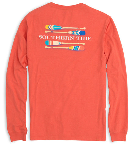 Southern Tide LS Canoe Dig It T-Shirt-Red - Bennett's Clothing - 1