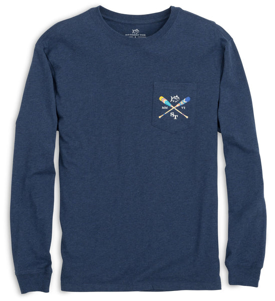 Southern Tide LS Canoe Dig It T-Shirt-Navy - Bennett's Clothing - 2