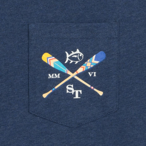 Southern Tide LS Canoe Dig It T-Shirt-Navy - Bennett's Clothing - 3