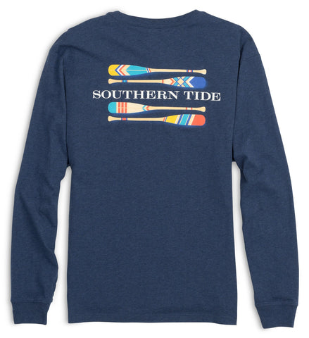 Southern Tide LS Canoe Dig It T-Shirt-Navy - Bennett's Clothing - 1