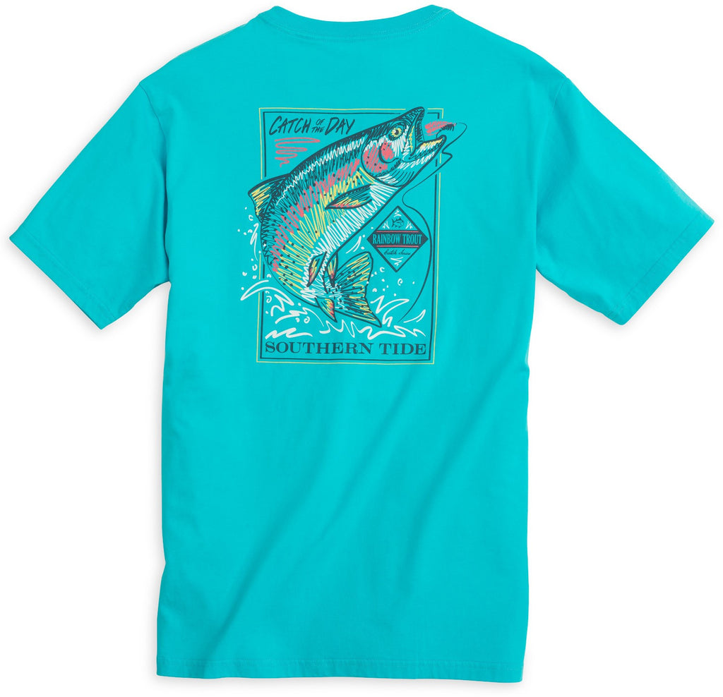 Southern Tide Catch of the Day T-Shirt-Scuba Blue - Bennett's Clothing - 1