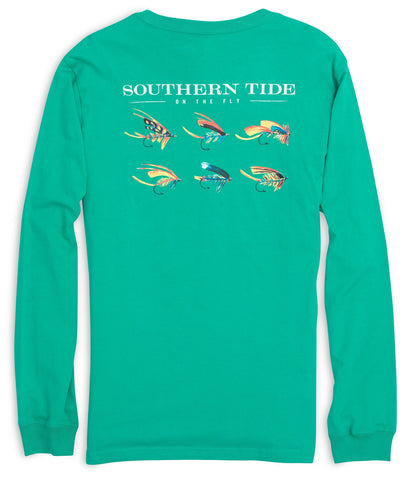 Southern Tide On The Fly Long Seeve T-Shirt-Abalone - Bennett's Clothing - 1