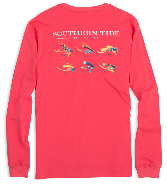 Southern Tide On The Fly Long Seeve T-Shirt-Ember - Bennett's Clothing - 1